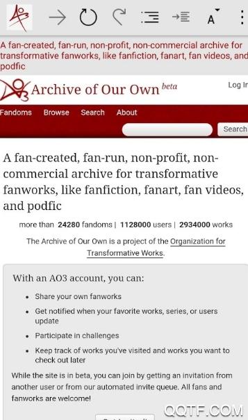 Ao3Track阅读器中文版链接入口版v1.2.5 最新版