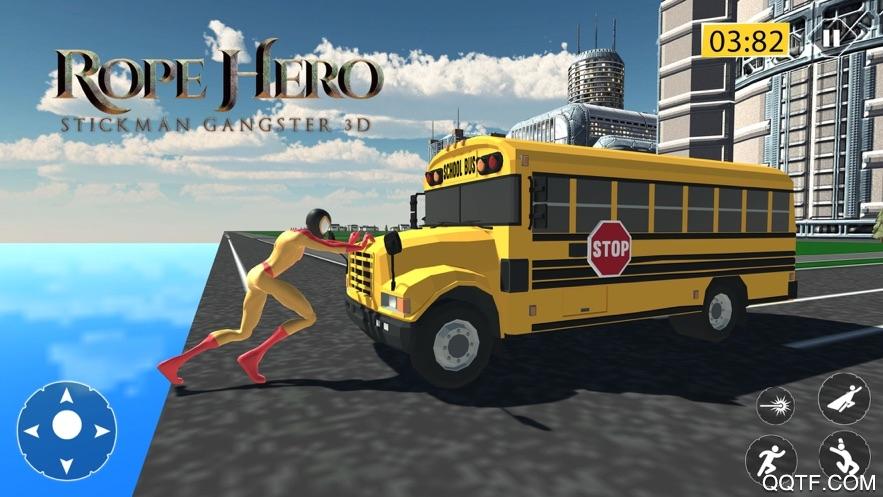 绳索英雄火柴人黑帮3D最新ios版v1.2 iPhone版